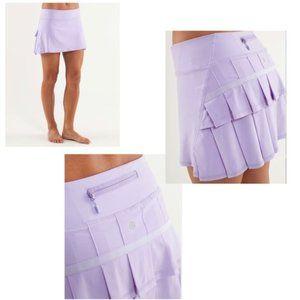 Lululemon Pace Setter lilac Purple tennis skirt 8